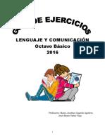 Guía de ejercicios 8°  2016 (Lenguaje)