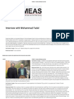 Interview With Mohammad Fadel