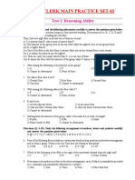 IBPS Clerk Main Practice Set 03