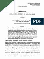 Resveratrol. Life Sci. 2000