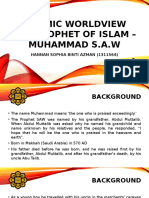 (UNGS 2030 - Islamic Worldview) The Prophet of Islam, Muhammad and His Mission