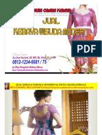 Jual Kebaya Wisuda Modern 081212346675 by Duta Graha Kebaya