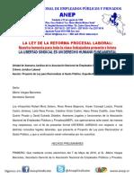 Criterio Jurídico Ley Para Aniquilar El Sector Público 1-2015-2016-ANEP-UAJ-