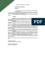 Reglamento Ley Mineria Pequena y Artesanalds013-2002