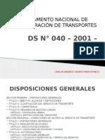 Reglamento Nacional de Administración de Transportes