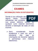 Exames-informação estudantes