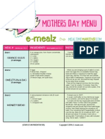 Mothers Day Menu 2010