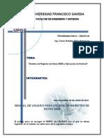 Manual de Sistema de Registro de Notas Android App