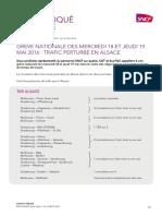 Grève SNCF 18 et 19 mai 2016 - Alsace