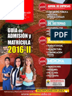 Guia de Matriculas 2016-II - 2