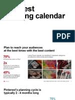 Pinterest Planning Calendar