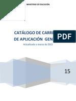 Catalogo General de Carreras Mar2015