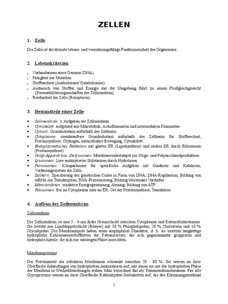 Beste 2 4 Die Anatomie Der Zelle Antworten Ideen - Menschliche ...