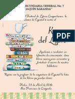 Cartel Km Del Libro