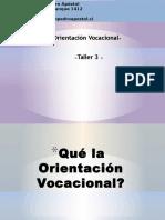 Orientacion Vocacional Taller Preferencias Vocacionales