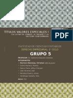 TITULOS VALORES ESPECIALES