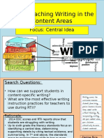 pd presentation content writing
