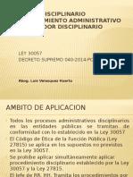 Regimen Discip´linario ley 30057-con diseño