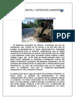 Impacto Ambiental y Deterioro Ambiental
