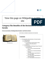 Category:The Benefits of the Recitation of Certain Surahs - Association of Independent Readers and Rootworkers