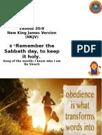 Obedience Exodus 20-8