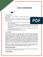 DELITO MONETARIO