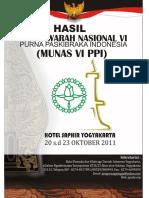 HASIL MUNAS VI PPI