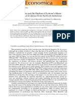 Azmat, G., Manning, A., & Reenen, J. v. (2012). Privatization and the Decline of Labour's Share International Evidence From Network Industries. Economica, 79(315), 470-492.