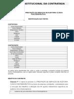 Contrato Auditoria Externa Fisioterapêutica