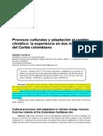 Correa, Sandra - Procesos Culturales y Adaptación Al Cambio Climático. Experiencia en Caribe Col