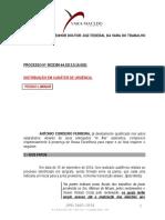 Ação Cautelar Incidental - Antonio Cordeiro