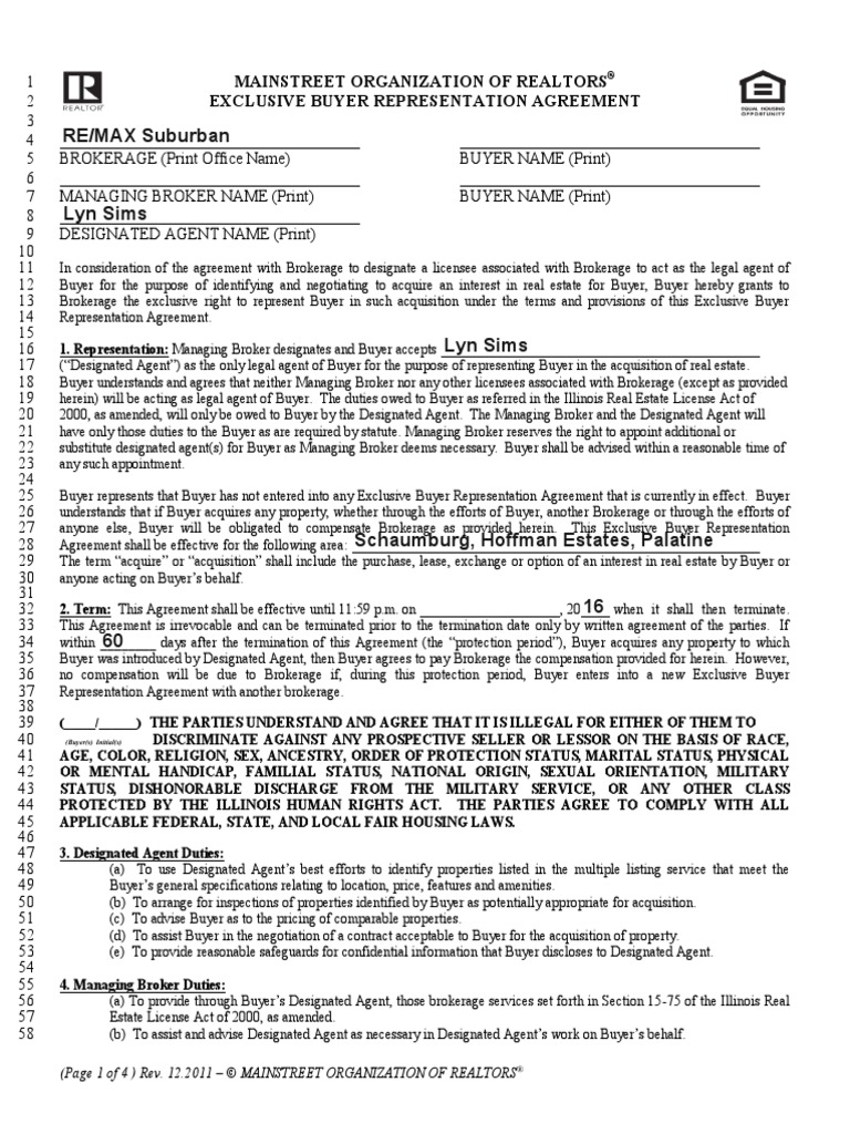 Exclusive buyers agreement for illinois law of agency government platinumwayz