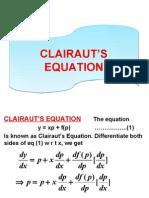 Claraut's Eqs.(Presentation)