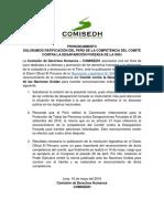 [PR] Saludamos ratificación del Perú de la competencia del Comité contra la Desaparición Forzada de la ONU