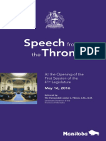 Throne Speech 2016