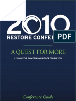 2010 Restore Conference Booklet