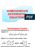 Homogeneous Differential Equations