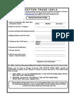 Cotton & Yarn Export Training Registration Form