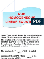 Non Homogeneous Linear Equations