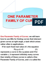 One Parameter Family of Curves