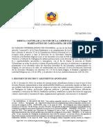 Misiva cautelar CIC-MC009-2016 a favor de los Habitantes de Cartagena