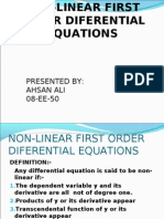 Non Linear First Order Diff Equ