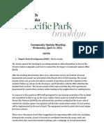 ESD 4/13/16 Community Update Meeting Notes Atlantic Yards