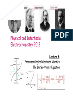 EC JS Module CH3304 MEGL Physical and Interfacial Electrochemistry 2013 New Course L6 Electrode Kinetics