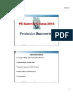 5. Production Engineering