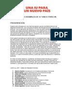 Lista de Alberto Garzón para la Asamblea de IU