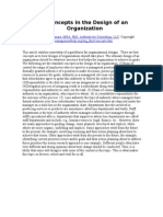 Key Concepts in the Design of an Organization Article