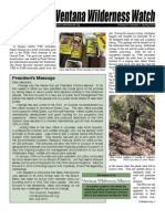 Ventana Wilderness Watch Newsletter, Spring 2009 ~ Ventana Wilderness Alliance