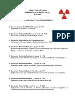 Lista de Normativas en Protección Radiológica