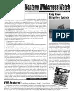 Ventana Wilderness Watch Newsletter, Fall 2007 ~ Ventana Wilderness Alliance